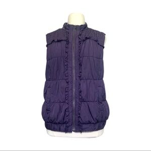 CJ Banks Purple Poly Fill Vest Size 3X